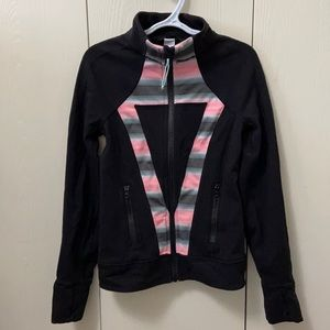 Ivivva Black Jacket/Sweater with Pink Stripes